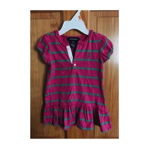 Ralph Lauren Striped Dress — 12 Mos